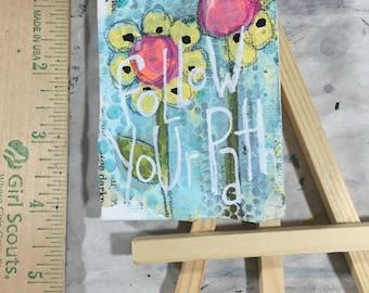 Original, Artwork, Mixed Media, Mini Canvas With Easel