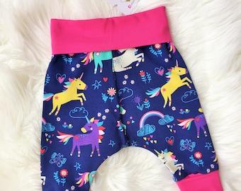 Grow with me harem pants Unicorns and Rainbows