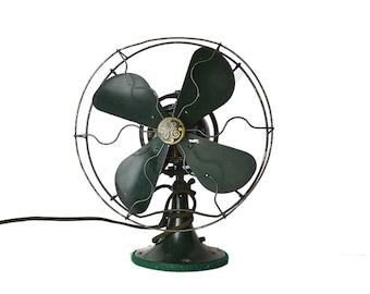 Antique Early 1900s GE Fan, Industrial Fan, Antique General Electric Table Fan As Is