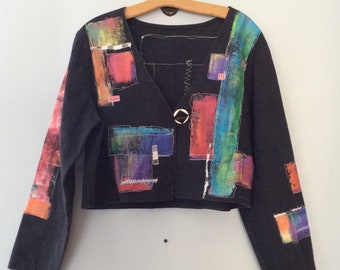 80s Hand Painted Cropped Jacket