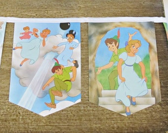 Peter Pan Nursery Bunting - Birthday Party Supplies Baby Shower Homewares - Room Decoration Disney Garland - For Children Kids Boy Girl Gift