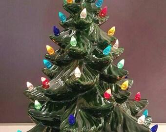 """VINTAGE Style Ceramic Christmas Tree -18"""" - Ceramic Christmas Tree 18"""" Tall With Star - Ceramic Tree - Large Ceramic Christmas"""
