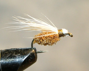 Fly Fishing - Made in Michigan Fly - Hand-tied - Deer Hair - Fly Fishing Flies - Brown - White - Classic Fishing Flies - Number 10 Hook