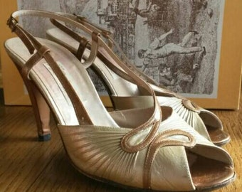 Caramel Renata Shoes, Size 38 (UK5), Leather & In Original Box