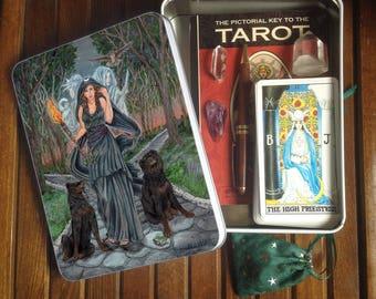 Jumbo Tarot Tin or Travel Altar, Hecate