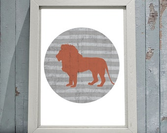Lion Print 8x10 or 11x14 with Matte Options