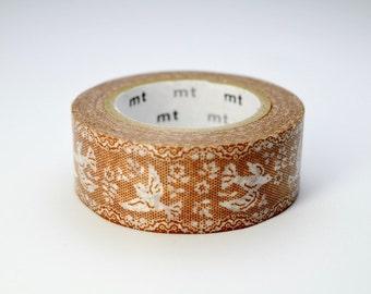 mt ex washi paper masking tape - lace - birds