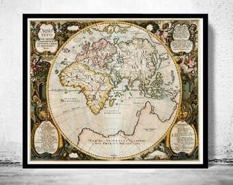 Antique Old World Map Antique 1652