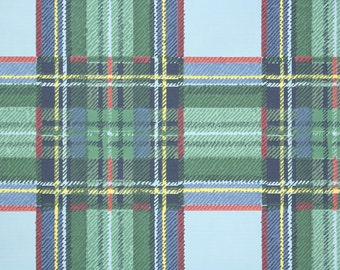 1950s Vintage Wallpaper by the Yard - Vintage Wallpaper  Blue and Green Plaid