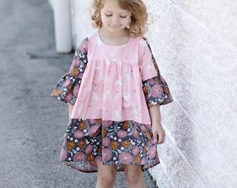 the EMMA blouse tunic dress pdf pattern size 18M to 10