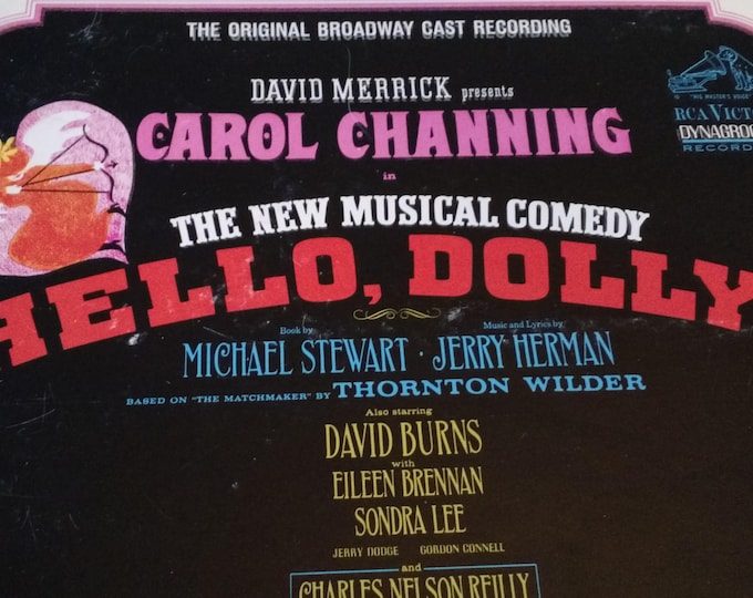 Hello Dolly - The Original Broadway Cast Recording  1964- Vinyl Record