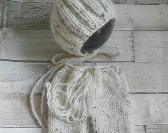 Newborn Shorts Set -Pixie  Bonnet & Shorts set - Newborn Props - photography props