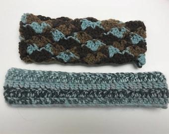 Pack of 2 crocheted headbands
