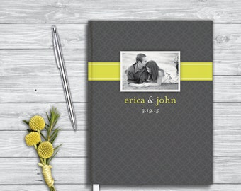 Wedding guest book. Bridal Shower guest book.