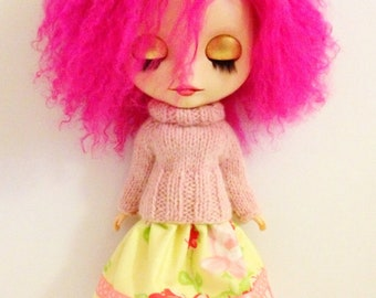 PDF knitting and sewing pattern - Simple pleasures set for Blythe
