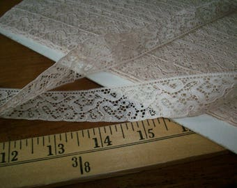 French vintage light tea with milk color pure cotton lace lovely design