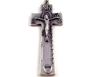 Irish Penal Rosary Crucifix Medal | Italian Rosary Parts