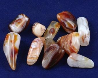 Tumbled Chalcedony Agate 10 stones 1.5 oz.