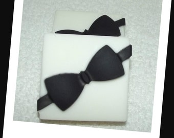 Black Tie Soap, Groom Soap, Soap for Him, Groomsmen Soap, Mens Soap, Wedding Soap Favor, Wedding Party Favor, Black Tie Affair, Mens Gift