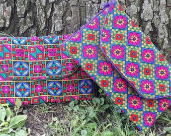 Trendy colourful clutch - bag from Pakistan