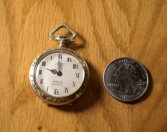 Vintage LANCO ANTIQUE Mechanical Winding Pendant Watch, made in France