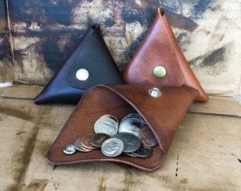 Triangle Coin Wallet Ear buds holder