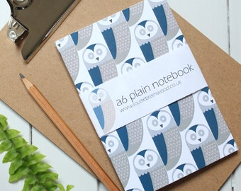 Owl pattern small notebook