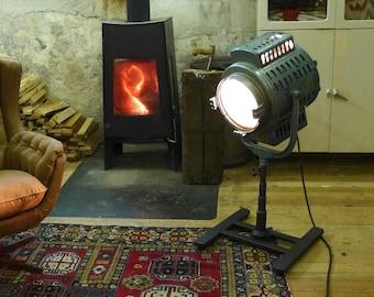 Vintage Cinema Light - Movie Light - Hollywood Light - 1940s Cinema Spotlight - Movie Tripod Lamp - Industrial Lamp - Theater Floor Lamp