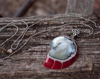 Ocean Nautilus Shell .925 Sterling Silver Pendant