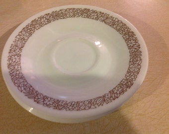 Vintage Corelle Set of 5 Corelle Saucer Plates  - Woodland Pattern