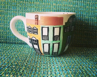 Rainbow Row Charleston Love Mug
