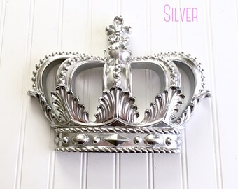 Silver Princess Crown - Nursery Decor - Princess Crown - Baby Shower Decor - Girls Room