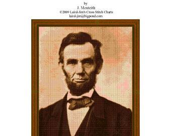 ABRAHAM LINCOLN - Cross Stitch Charts