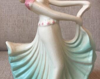 Hull Pottery Dancing Girl Planter