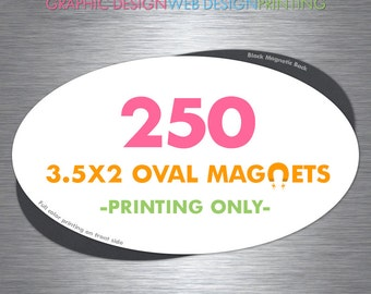 250 Oval Magnets Full Color Printing Glossy Coating