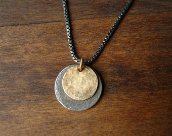 Silver and Gold Eclipse Necklace