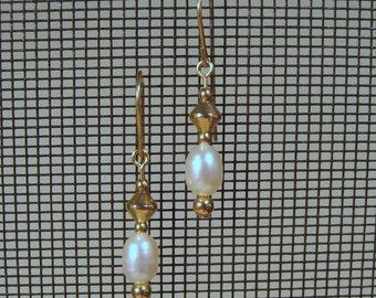 Gold-filled Freshwater Pearl Dangle Earrings