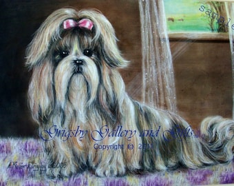 "SAMPLE Fine Art, Soft Pastel, ""SUZETTE"" 14 x 18  Commission your Pet Portrait today"