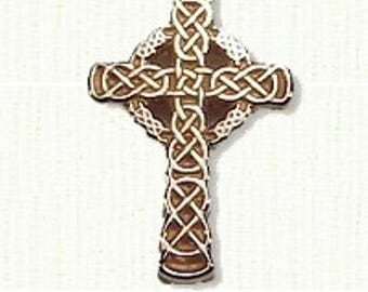 Celtic Sculpted Murphy Knot Cross - Available in 2 Sizes and All Metals - Beautiful Celtic Cross