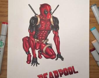 Deadpool Marker Art Print