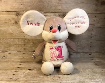 Kensington Mouse Baby Cubbie EXCLUSIVE Personalized Cubbies Embroidered Baby Cubbies Cubbies Stuffed Animal Baptism Gift Birth Announcement