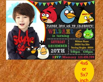 Angry Birds Birthday Invitation, Angry Birds Invitation, Angry Birds Birthday, Angry Birds Party, Angry Birds Printable, Instant Download