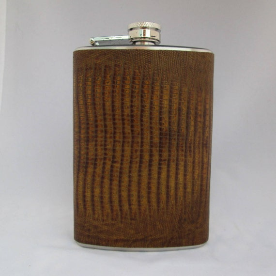 Every Day Collection Flask in Faux SNake Skin