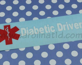 Diabetic Driver-simple decal
