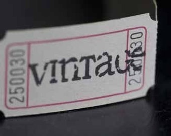 Vintage Style Hand Stamped Carnival Tickets