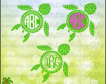 Sea Turtle SVG ~ Mosaic Sea Turtle ~ Sea Turtle Monogram ~ Kids Svg ~ Monogram SVG ~ Commercial Use SVG ~ Cut File ~ Clip Art png-dxf-eps