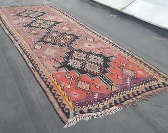 Vintage Kilim Rug, Kilim, Kilim Rug, Turkish Rug, Nomadic Rug, Tribal Rug, Turkish Carpet, Home Decor, Home Living, Rugs