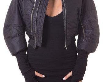 Black Jacket, Bomber Jacket, Cropped Jacket, Womens Jacket, Short Jacket, Plus Size Jacket, Womens Bomber, Sport Jacket, Oversized Jacket