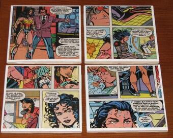 Wonder Woman Comic Book Coaster Set