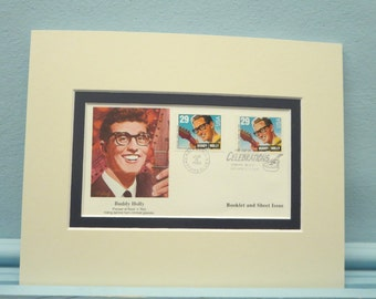 Saluting Buddy Holly and the Crickets & First day Cover of the Buddy Holly stamp
